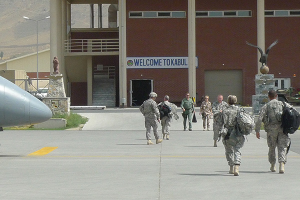 Military terminal at Kabul International Airport in 2010